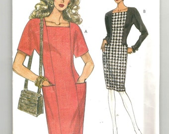UNCUT 8600 Vogue Sewing Pattern Fitted Tapered Dress Size 12 14 16