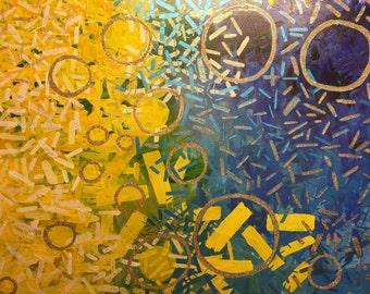 """The Energy- 30""""x40"""" Acrylic on Canvas"""
