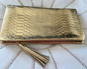 Metallic Gold Oversized wallet>clutch>purse>fantastic size wallet>best seller>great gift idea>summer >winter trends.must have>