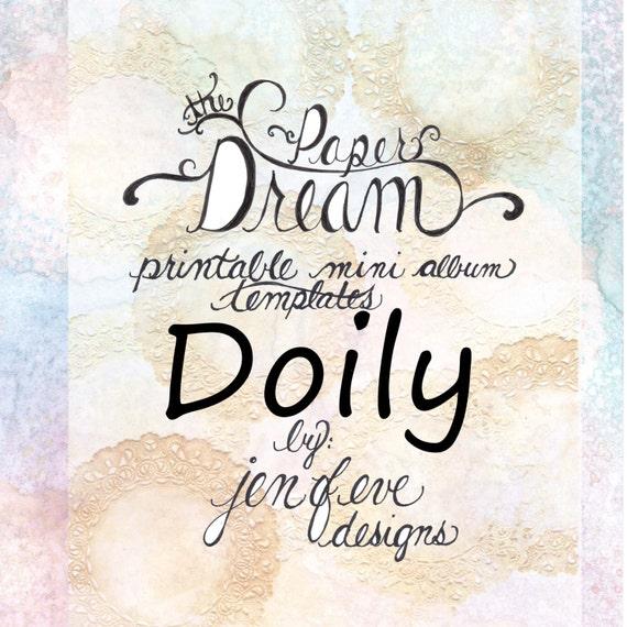 The Paper Dream Printable Mini Album Templates in Doily and Plain