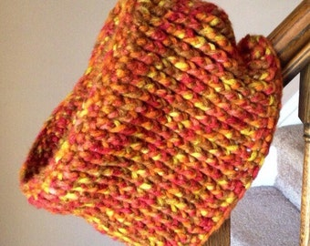 Ready to ship now!! Chunky Autumn wool cowl