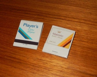 Set of 2 Vintage Matchbooks - Player's Extra Light and Matinee Extra Mild