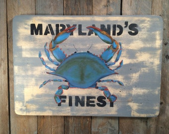 Maryland Blue Crab Cutting Board. Chesapeake Bay Blue Crabs, Maryland Kitchen Decor, East Coast Blue Crabs, Gourmet Art for Maryland