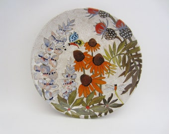 Flowers and Pigment Dinner Plate