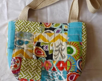 Hand Quilted Tote Bag