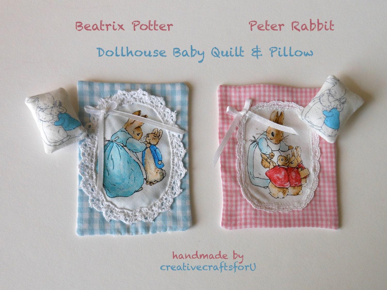 Beatrix Potter Peter Rabbit Dollhouse Baby Quilt Amp Pillow Set