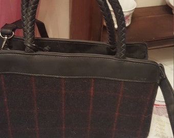 80s new old stock Cherokee plaid purse