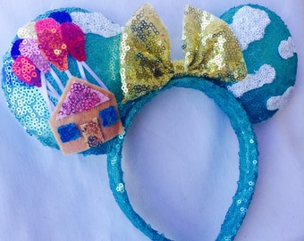 Disney UP Inspired Minnie Mouse Ears Headband