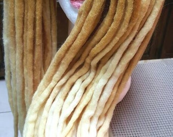 Wool Dreadlocks Custom Wool Dreads Handmade Hippie Dreads Hair Extensions Wool Dreads Ombre Hair Accessories Set of 50