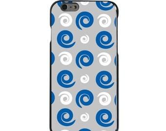 Hard Snap-On Case for Apple 5 5S SE 6 6S 7 Plus - CUSTOM Monogram - Any Colors - Kentucky UK Wildcats Colors - Swirls Pattern