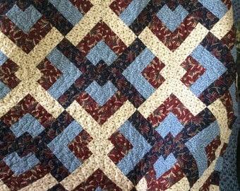 Handmade Lap Quilt 62X62