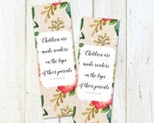 PRINTABLE Bookmarks for Library or Storybook Baby Shower