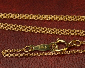 "18"" Solid 14K Gold Finished Chain"