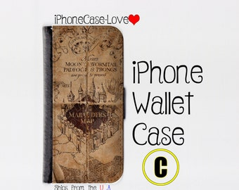 iPhone 6 Case - iPhone 6 Wallet Case - iphone 6 - iPhone 6 Wallet - Harry Potter iphone 6 case C - Marauder Map iphone 6 case