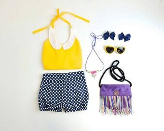Lace halter collar Top - Girls Top