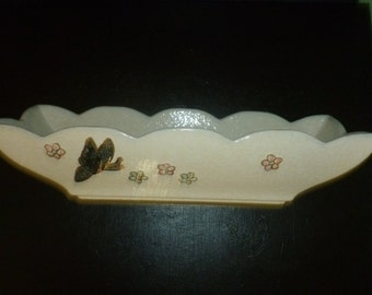 Vintage Hull Butterfly Rectangular Planter Flower Pot