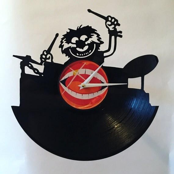 Animal Drummer Record Clock