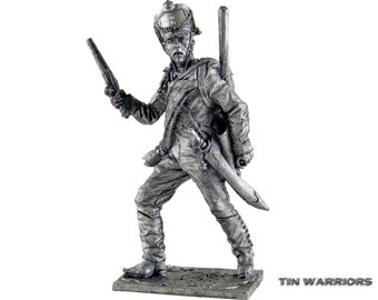 Pioneer regiment soldier. Russia, 1809-12 years, metal sculpture. Collection 54mm miniature figurine. Tin toy soldiers