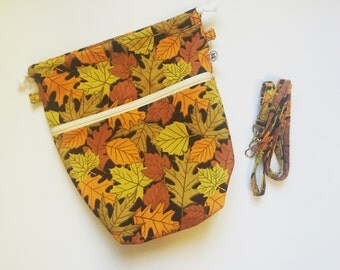 Project bag with detachable crossbody strap