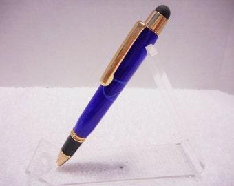 Blue Ripples Credit Card Stylus Pen