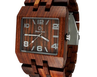 Wood Watch Handmade from Rosewood {KOBUK}