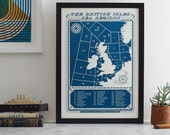 Attention all shipping. VIKING. Shipping forecast screen print by James Brown