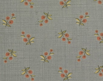 Small red flower on Blue quilting fabric 13564-13