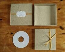 DVD Case and Box, CD packaging, Hemp Lokta Paper, Choice of Ribbon.