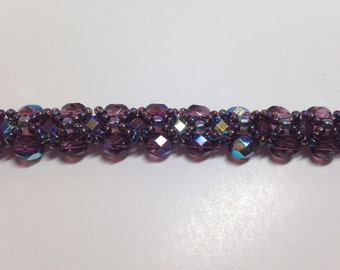 Amethyst color beaded bracelet