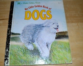 "Vintage Little Golden Book "" My Little Golden Book of Dogs """