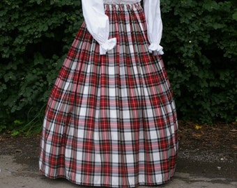 Ladies Victorian / Edwardian costume SKIRT gentry / ball gown fancy dress Sizes 6-32 Dress Stewart tartan