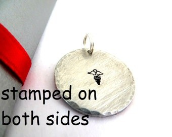 Double side Custom Stamped Charm only, gift box included
