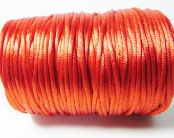 D-02756 - 5 meter Satin Cord red 2mm