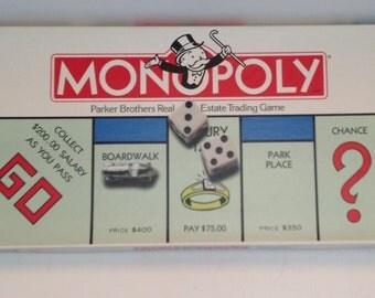 Vintage 1985 monopoly game