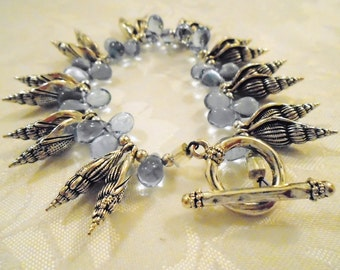 Blue Seashell Bracelet