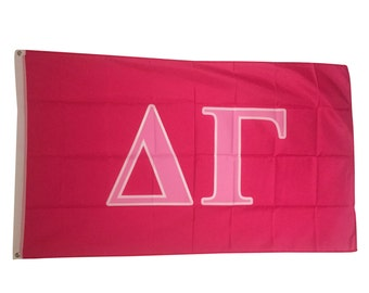 delta gamma dark pinklight pink letter flag 3 x 5