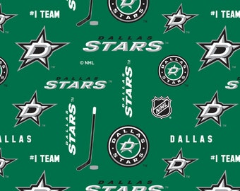 Dallas Stars NHL Hockey Double-Sided Fleece Blanket