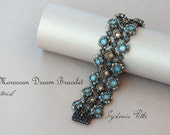 Moroccan Dream Bracelet Tutorial - Swarovski Crystals Bracelet - Beading Pattern - Digital Download