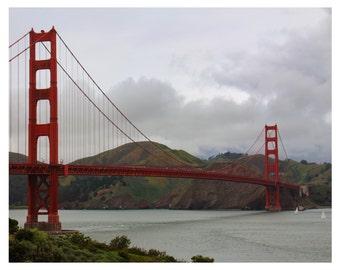 San Fransisco Golden Gate Bridge Photography 10 x 8 Fine Art  Photography-California-American Treasure- Landscape Photography-Office Decor