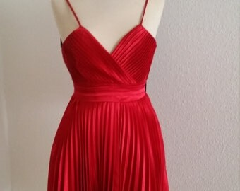 Valentino Red, dress , made in France , Marilyn Monroe style