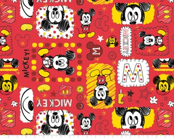 Mickey Mouse 85270102 Cotton Fabric by Camelot! [Choose Your Cut Size]