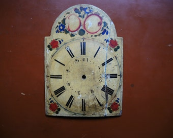 Antique Wag on wall clock parts - wooden case parts - Featured - altered art - Steampunk supplies - clock dials - Steampunk - clock face