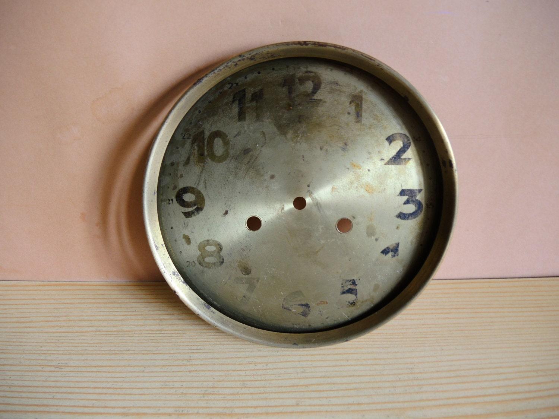 antique wall clock parts clock face large brass clock dial