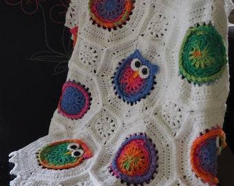 Crochet Baby Blanket Owl or Cat