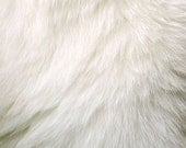Luxury Faux Fur Fabric  / Yardage / Remnant / Piece / Thick Shag  Black or Ivory