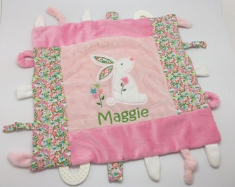 Baby girl etsy personalized baby girl gift blankie toy minky blanket personalized baby gift monogram negle Gallery