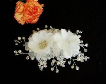 Crystals and Rhinestones Bridal Hair Accessories, Bridal Hair Flower, , Bridal Hair Piece, Bridal Hair Clip