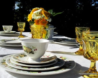 Vintage Royal Doulton Miramont TC1022 China Service for 6 - Royal Doulton China - Six 5-Piece Place Settings plus Extras