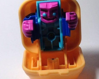 Vintage 1987 McDonalds Changeables Transforming Quarter Pounder Happy Meal Toy Cake Topper Collectible Robot