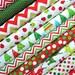 Christmas Fabric Bundle - Jingle and Remix - Anne Kelle - Robert Kaufman - Red & Green Reindeer, Trees. 100% cotton - Select Your Length